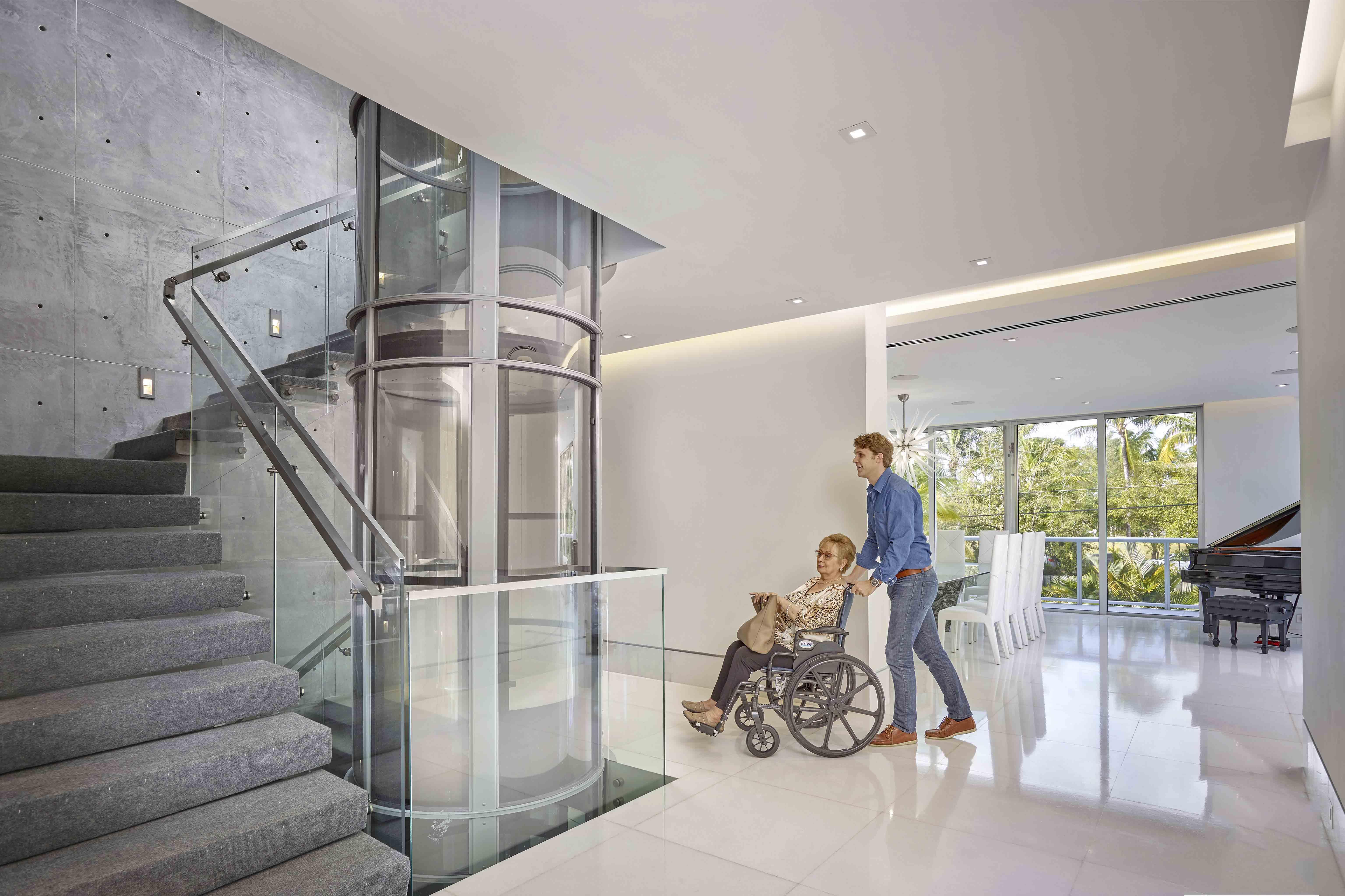 Ascensor unifamiliar neum tico ascensores wolair - Ascensores para viviendas unifamiliares ...
