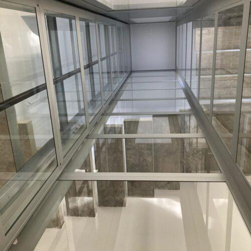 ascensor de plataforma cristal