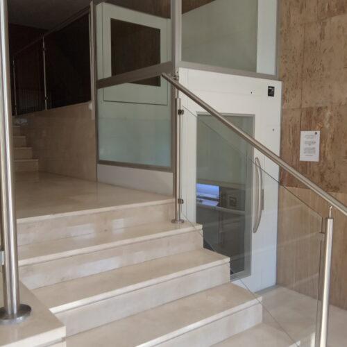 plataforma ascensor portal