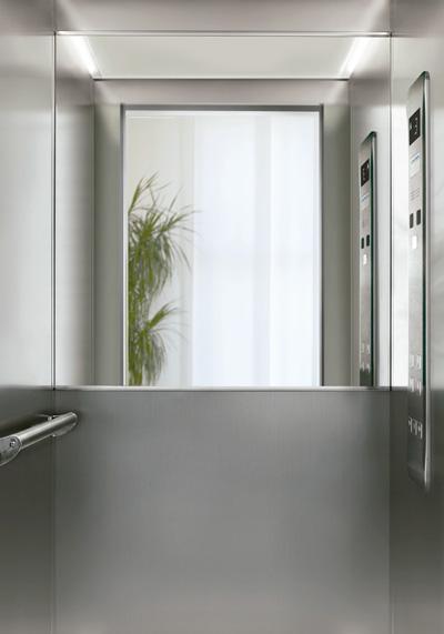 ascensor gearless espejos