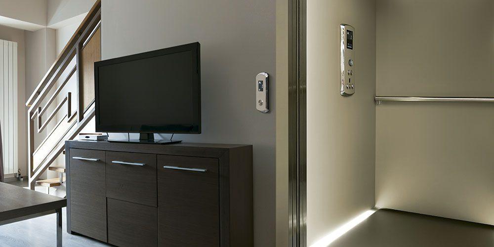 Elevador de cabina minimalista